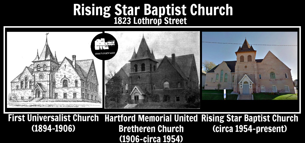 Rising Star Baptist Church, 1823 Lothrop St, North Omaha, NE 68111.