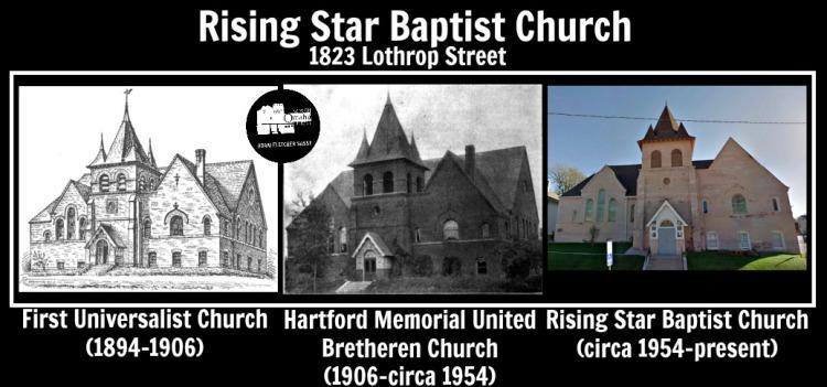 Rising Star Baptist Church, 1823 Lothrop St, North Omaha, NE 68111.