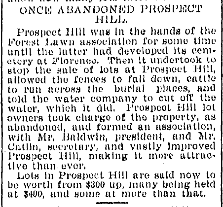 """""""Once Abandoned Prospect Hill"""" from the August 4, 1897 Omaha World-Herald."""