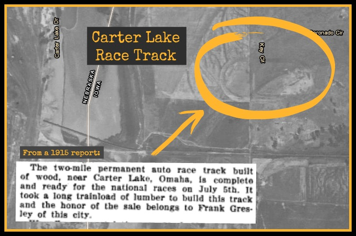 Carter Lake Race Track, N. 9th and Key Cir, Carter Lake, IA