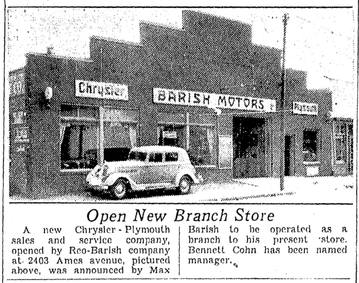 Barish Motors Chrysler-Plymouth, 2403 Ames Avenue, North Omaha, Nebraska