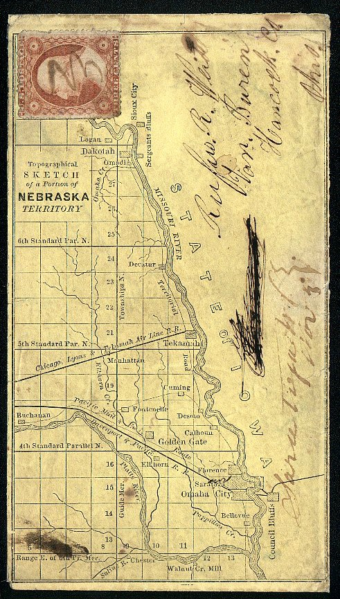 circa 1861 Nebraska Territory stationary