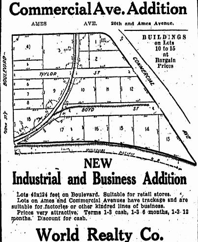 Commercial Ave. Addition in the Saratoga neighborhood, North Omaha, Nebraska