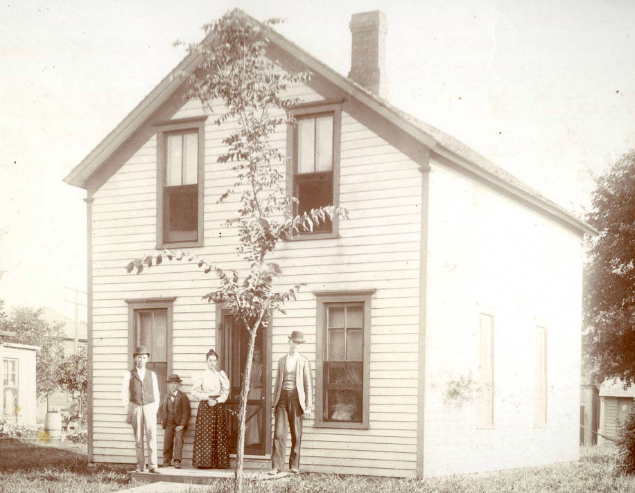 Saratoga, Nebraska home in the 1890s.