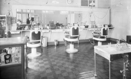 Barber shop, 24th and Ames, North Omaha, Nebraska