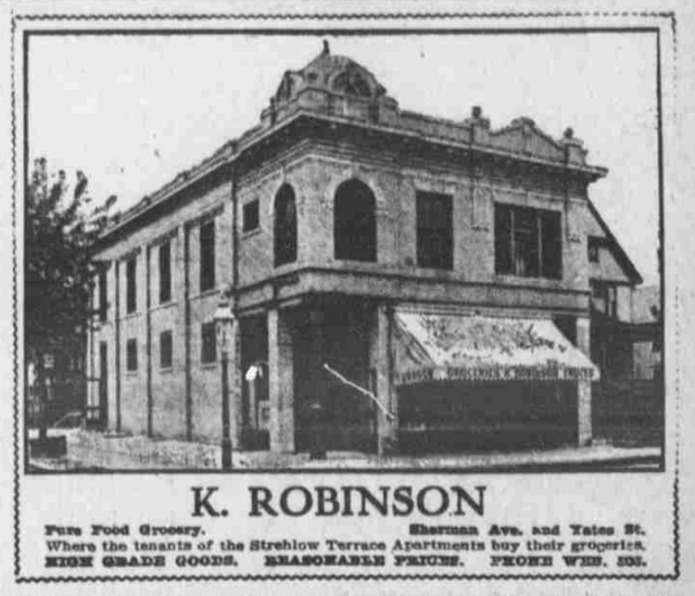 K. Robinson Grocery, N. 16th and Yates St., North Omaha, Nebraska