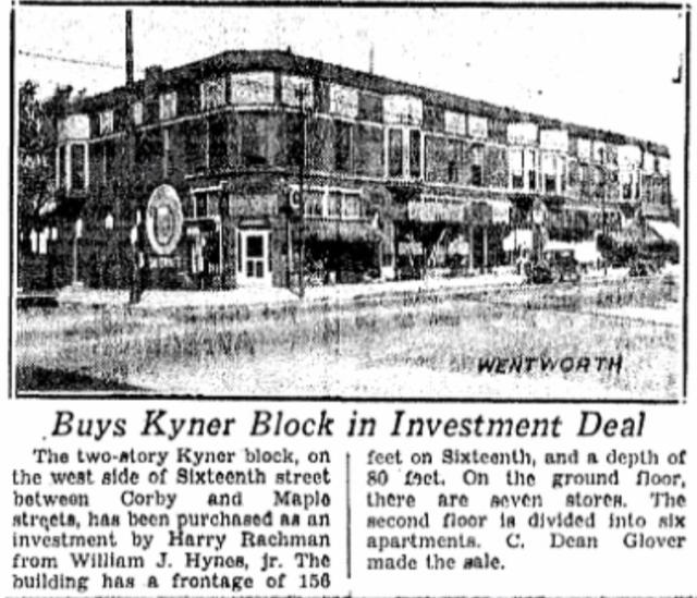 Kyner Block, N 16th and Corby, North Omaha, Nebraska