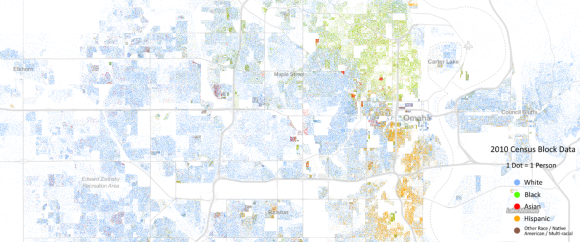 Omaha racial divide map
