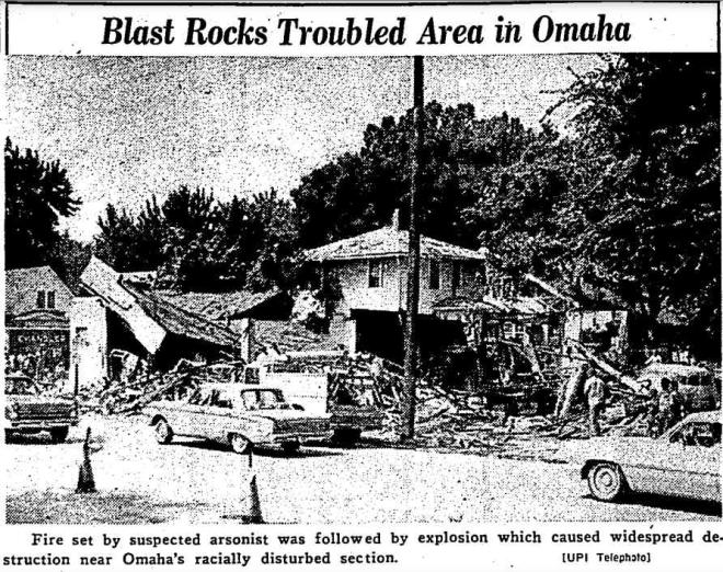 1966 Browns Cafe arson North 24th Street North Omaha Nebraska