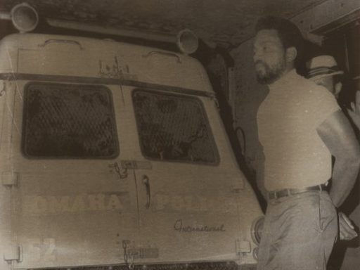 This is young Ernie Chambers being arrested during the June 1969 rioting.