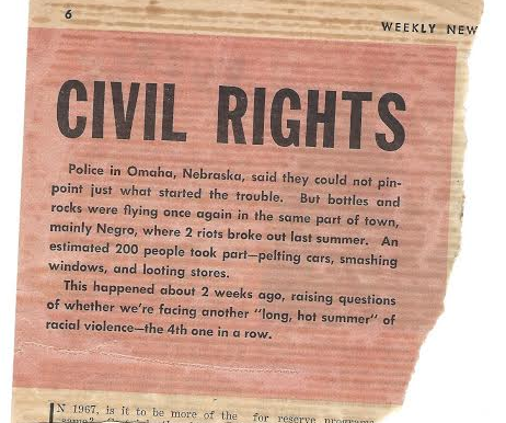 A snippy report from a local newspaper about civil unrest in 1967.
