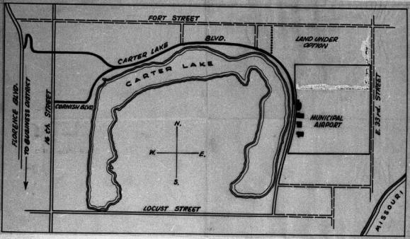 1920s Carter Lake map