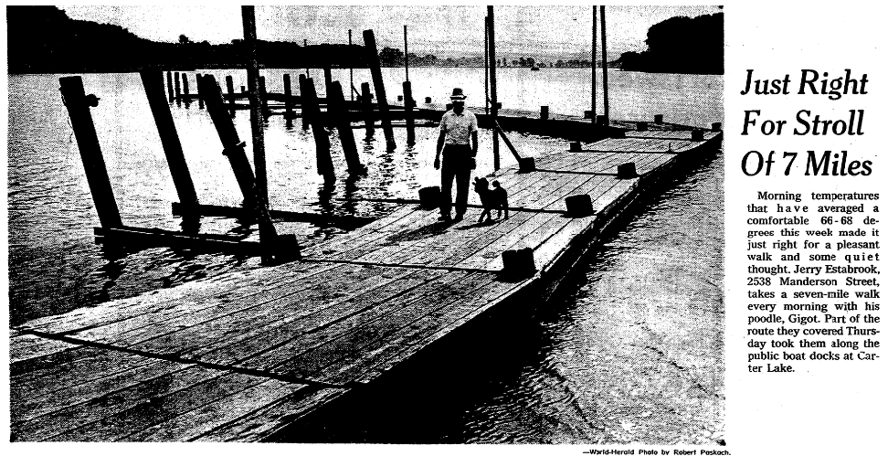 These are boardwalks on Carter Lake in 1978.