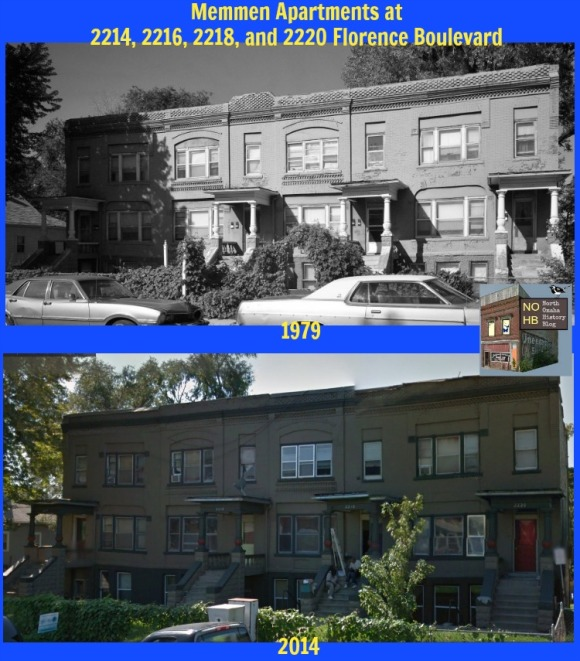 The Memmen Apartments were built in 1889 on Florence Boulevard in North Omaha, Nebraska.