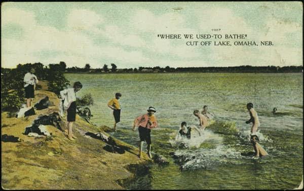 Where we used to bathe Cut Off Lake Omaha Neb