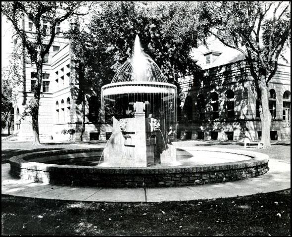 Minne Lusa Pumping Station fountain, North Omaha, Nebraska
