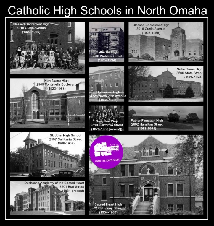 These are the current and former Catholic high schools in North Omaha, Nebraska.