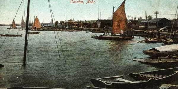 A historic postcard for Bungalow City, Lake Nakoma, Omaha, Nebraska.