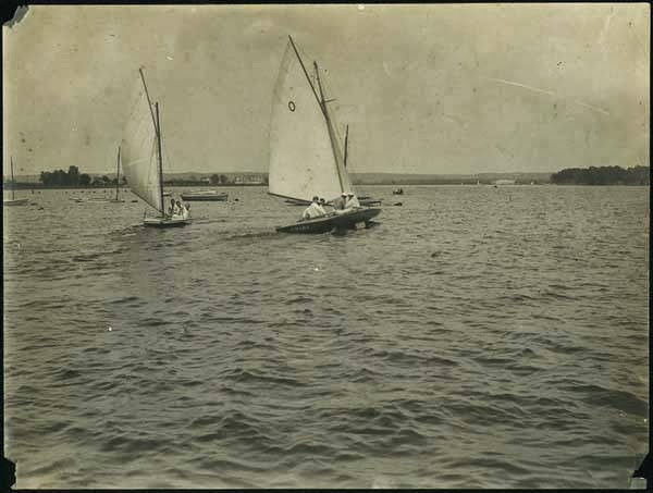 Sailing on Cut-Off Lake, Omaha, Nebraska