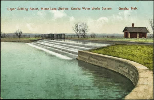 A postcard of the Florence Water Works in North Omaha, Nebraska