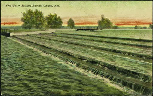 A postcard of the Florence Water Works, North Omaha, Nebraska