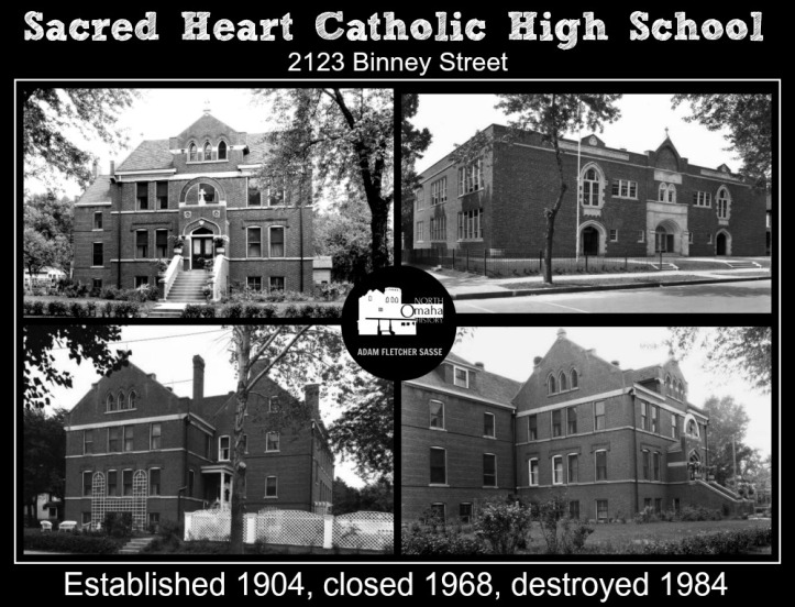 Sacred Heart High School, 2123 Binney St., North Omaha, Nebraska