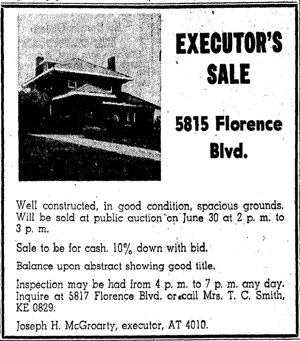 A History of 5815 FlorenceBoulevard