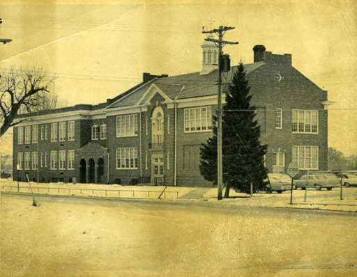 Pershing School, North 28th Avenue East and Perkins Street, East Omaha, Nebraska