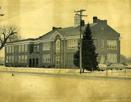 Pershing School, North 28th Avenue East and Perkins Street, East Omaha, Nebraska