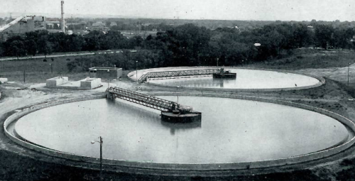Settling basins at the Florence Water Works in North Omaha, Nebraska.