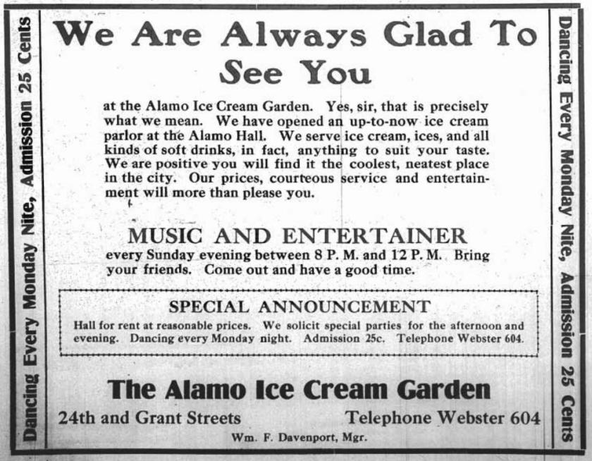 Alamo Ice Cream Garden, 24th and Grant Streets, North Omaha, Nebraska