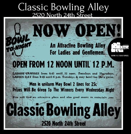 Classic Bowling Alley, 2520 N. 24th Street, North Omaha, Nebraska