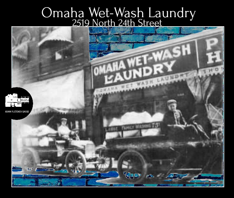 This is the Omaha Wet-Wash Laundry, once located at 2519 North 24th Street. This pic was taken in January 1912.