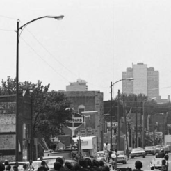 In this 1967 pic, you can see the Ritz Theatre, a laundromat, the old Feldman Grocery, the Standard gas station, Sadie's Bakery, a market, Robbins Drug, and several other businesses going towards downtown Omaha.