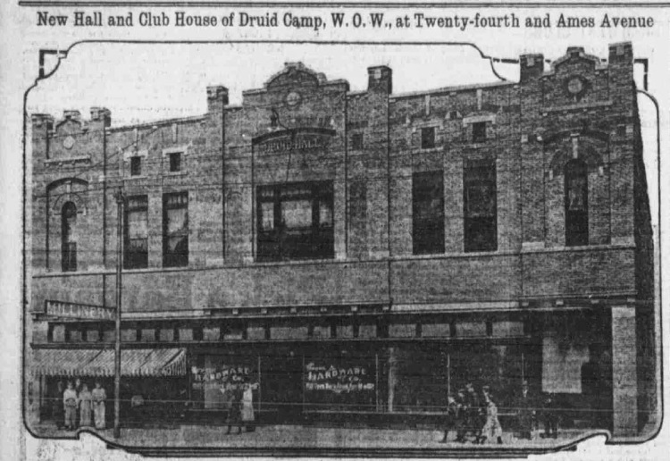 Druid Hall, 24th and Ames, North Omaha, Nebraska