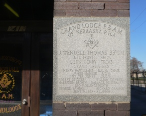 Cornerstone of the Druid Hall, 2412 Ames Avenue, North Omaha, Nebraska by Ammodramus.