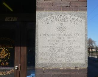 Cornerstone of the Druid Hall, 2412 Ames Avenue, North Omaha, Nebraska by Ammodramus.