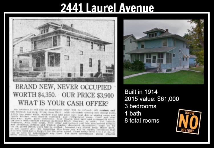 2441 Laurel Ave., Miller Park neighborhood, North Omaha, Nebraska