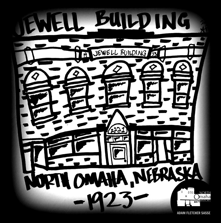 Drawing, Jewell Building, 2221 N. 24th St., North Omaha, Nebraska