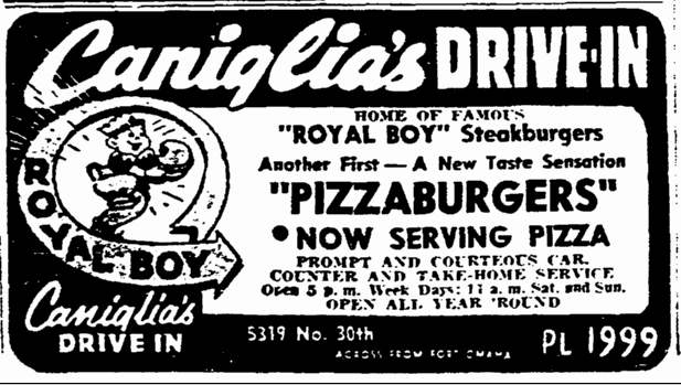 Caniglia's Royal Boy Drive-In, 5319 N. 30th St., North Omaha, Nebraska