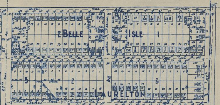 Belle Isle and Laurelton Additions, Miller Park neighborhood, North Omaha, Nebraska