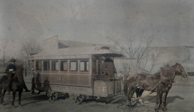 Omaha Horse-Drawn Street Railway Company, North Omaha, Nebraska