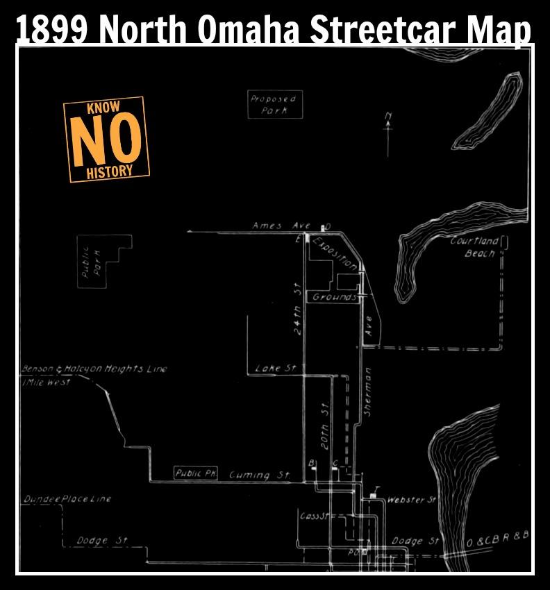 1899 North Omaha Streetcar Map