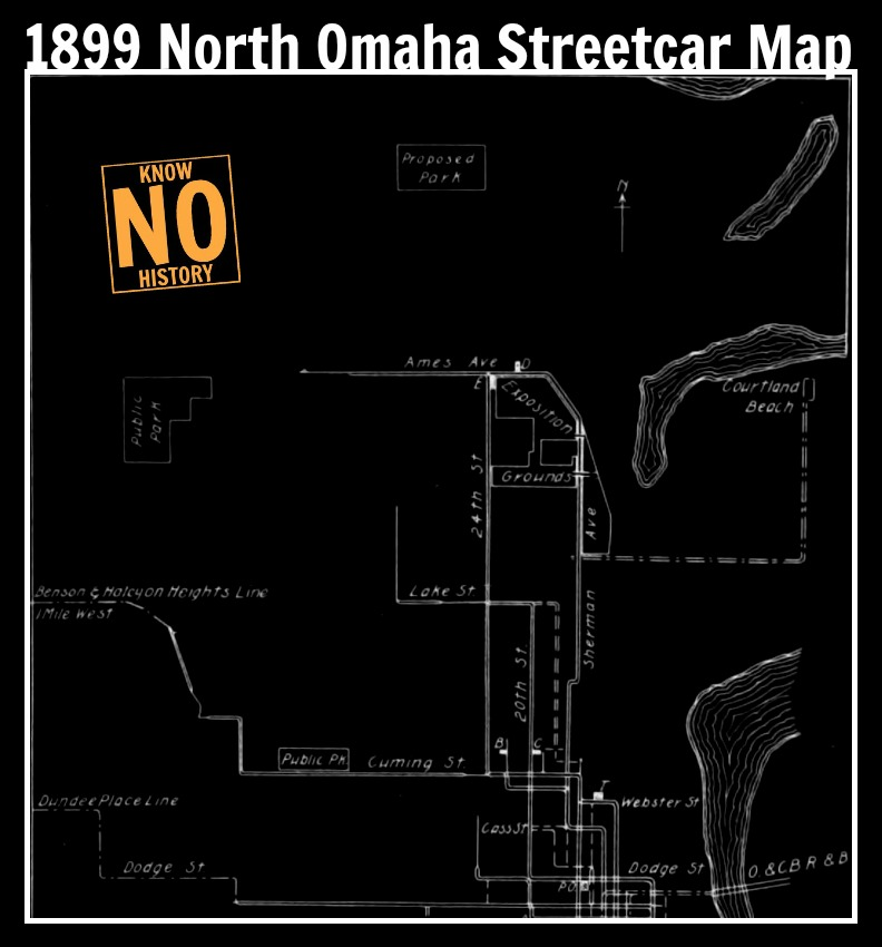 1899 North Omaha Streetcar Map