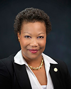 Tanya Cook (1964-present) of North Omaha is an African American member of the Nebraska Legislature.
