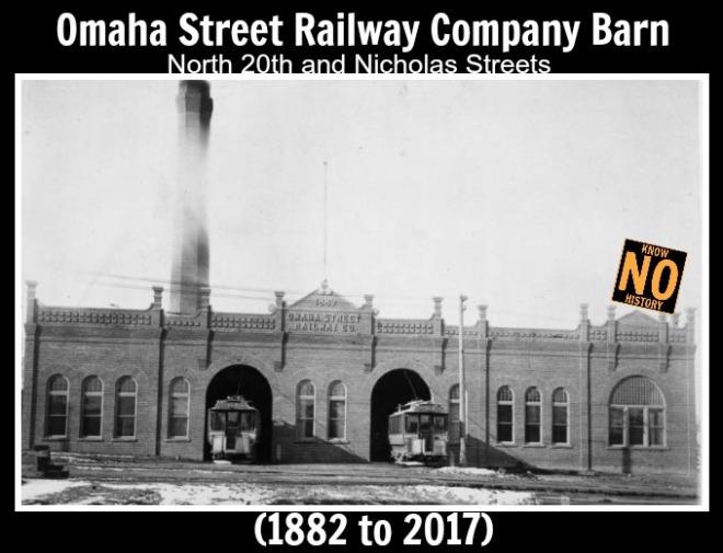 Omaha Street Railway Company streetcar barn, N. 20th and Nicholas Streets, North Omaha, Nebraska