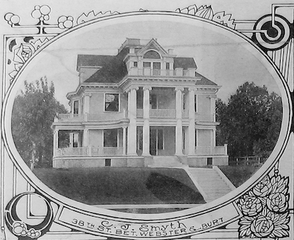 The McLain Mansion was at 2214 Wirt Street in the Kountze Place neighborhood.