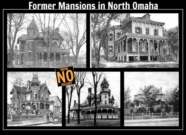 Former mansions in North Omaha, Nebraska