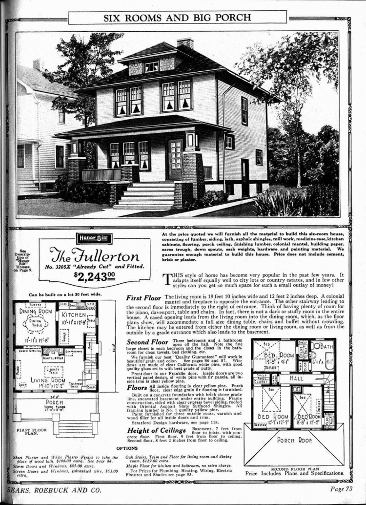 Sears catalogue page - The Fullerton design