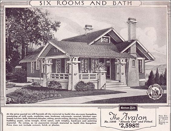 The Avalon by Honor Bilt was one of the many Sears house designs popular in North Omaha. With six bedrooms and a bathroom, it was available for $2,598 and arrived ready to build.